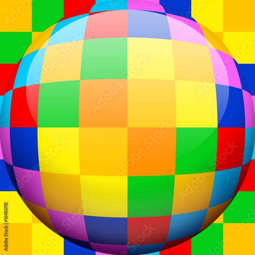 Obraz Caleidoscopio Sfera-Kaleidoscope Globe-Multicolor-1
