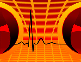 Heartbeat, Music wallpaper, with equalizer
