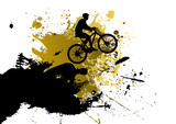 Fototapety Mountain bike abstract background