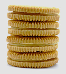 Lemon cookie stack