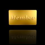 golden member card poster