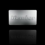 platinum member card poster