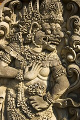 Details of exterior temple architecture in Bali