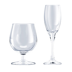 glass goblet isolated
