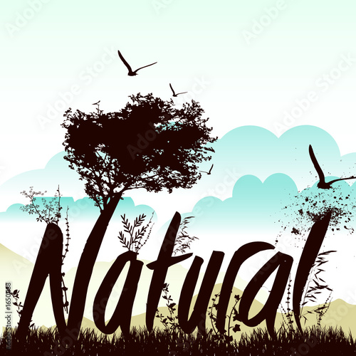 nature background with nautre graphic vector