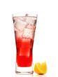 Leinwanddruck Bild - Kräuterbitter mit Soda
