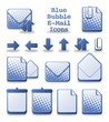 Blue Bubble E-Mail Icons