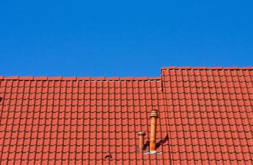 Dach eines Einfamilienhaus
