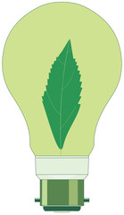 Vector Environment-Friendly Conceptual Incandescent Lamp