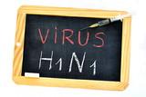 Virus grip A H1n1 poster