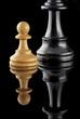 Pions de jeu d'échecs