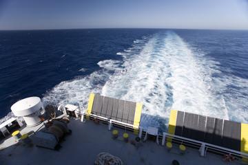 sunrising on ferry