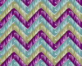 Zigzag striped background poster
