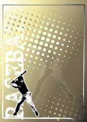 baseball golden poster background 3