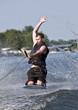 Kneeboarding on a lake