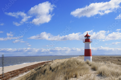 Leinwanddruck Bild leuchtturm lighthouse sylt leuchtfeuer  Dünen Dänemark