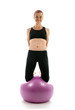 balance exercise strength pose middle age woman fitness core bal