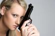 Blond Gun Woman