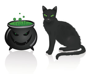 Pot and a cat.