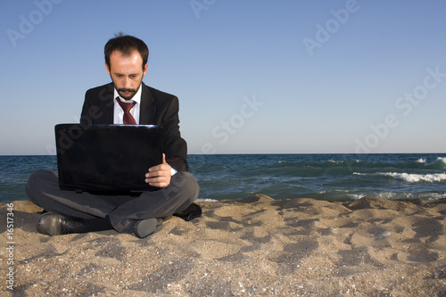 Businessman with a Water View