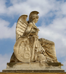 A Statue at the Arc de Triomphe du Carrousel, Paris, France