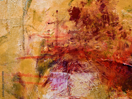 Abstract Expressionist acrylic painting