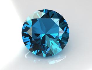 Elegant topaz gemstone - 3D
