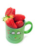 Mug that is in love with strawberry