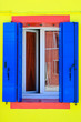 Windows of a Burano house