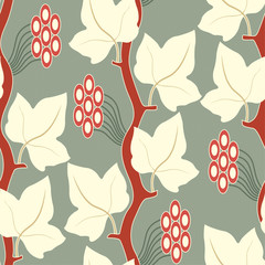 floral lattice pattern