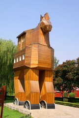 The Grecian horse in park of the world in Pekin