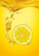 roleta: Lemon slice with bubbles