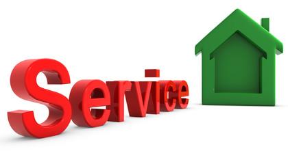 Service Casita Rojo y verde