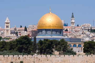 Dome of the Rock and Steeples