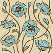 roleta: Poppies background