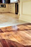 Hardwood  and tile floor poster
