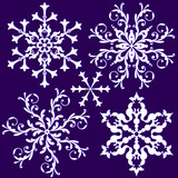 Collection vintage snowflake (vector)