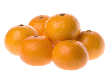 Mandarin Oranges Isolated
