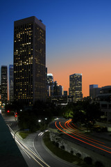 Los Angeles Street Scene at Twilight