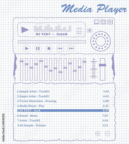 media player on vector