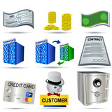 Accounting Icons Set poster