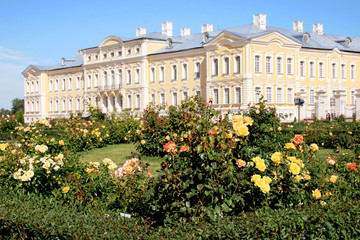 Rundale Palace - monument of Baroque and Rococo art in Latvia.