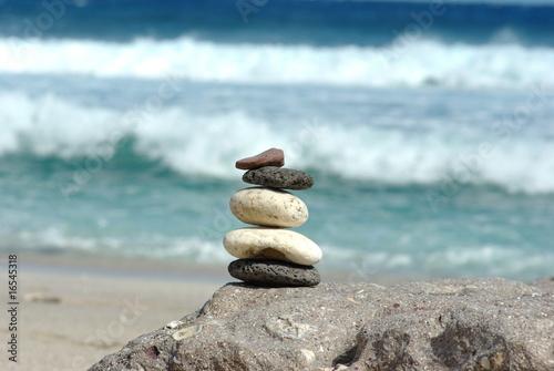 Papiers peints Zen pierres a sable zen à la plage