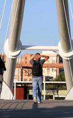 Puente del parque de cabecera de Valencia