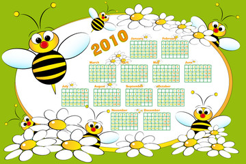 2010 Kid calendar with beeS