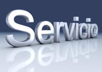 Service Metal fondo azul