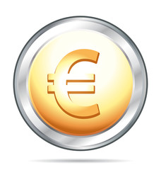 Euro gold and silver icon