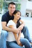 Attractive Interracial Couple poster