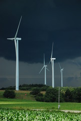 wind turbines during tornado formation