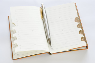 Address book with ballpoint